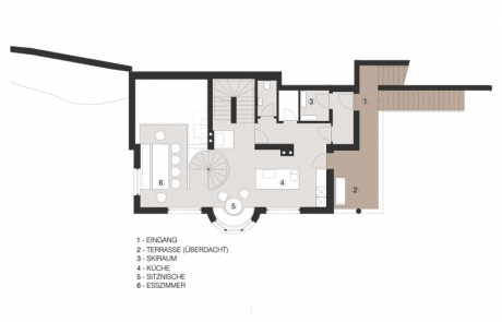Ruime woonkeuken en eethoek geschikt voor 10 personen