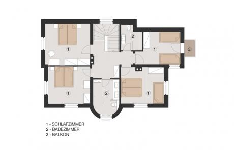 4 slaapkamers 2 badkamers